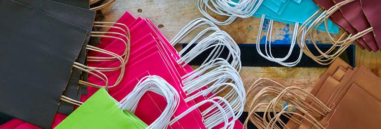 bolsas de papel personalizadas colores