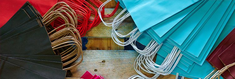 bolsas de papel colores