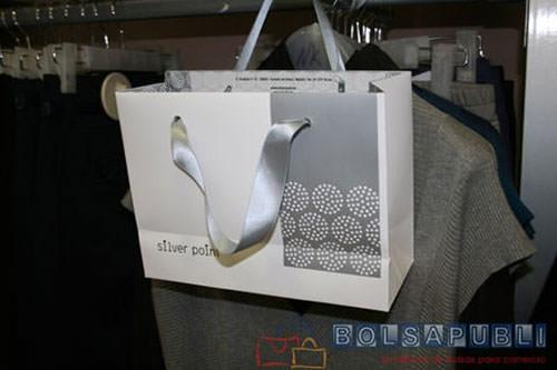 Bolsas de lujo papel y cordones de algodon