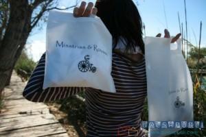 bolsas de tela blancas