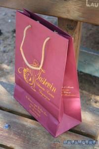 bolsas de lujo impresas granate