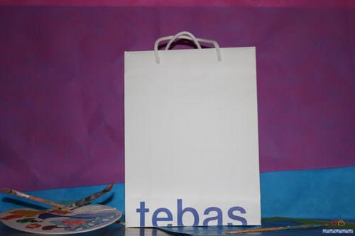 Bolsas de Lujo Impresas en Valencia blanca azul