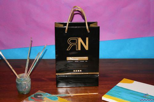 Bolsas de Lujo Impresas en Valencia negro oro