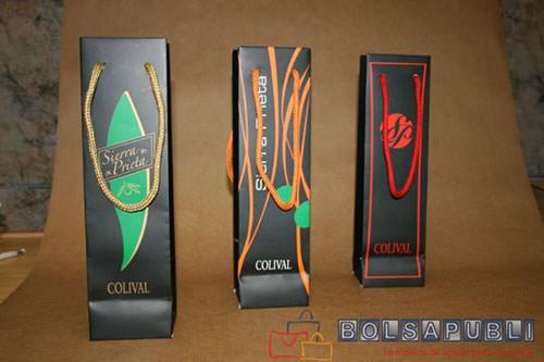 Bolsas para botellas personalizadas