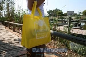 bolsas publicitarias amarillas