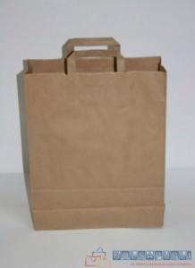 ferias y bolsas de papel asa plana
